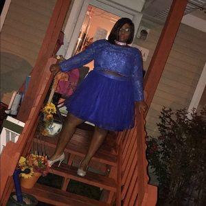 Blue 2- Piece Homecoming Dress